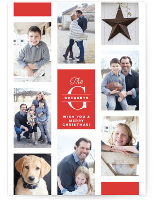 Monogram Film Christmas Photo Cards
