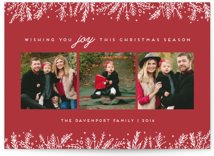 Introducing with Joy Christmas Photo Cards
