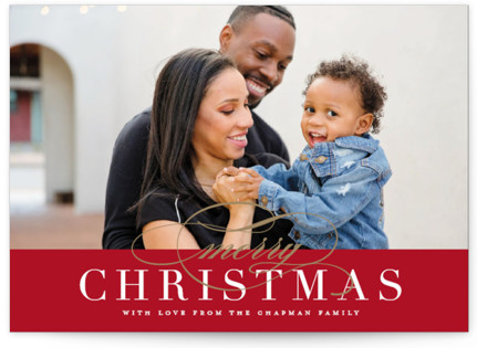 Simple Elegance Christmas Photo Cards