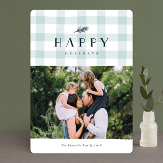 Charming Gingham Christmas Photo Cards