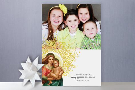 Madonna & Child Christmas Photo Cards