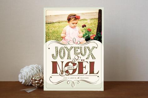 Joyeux Noel Christmas Photo Cards