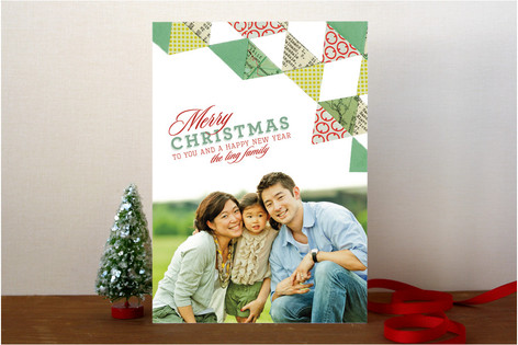 Quilted Christmas Christmas Photo Cards