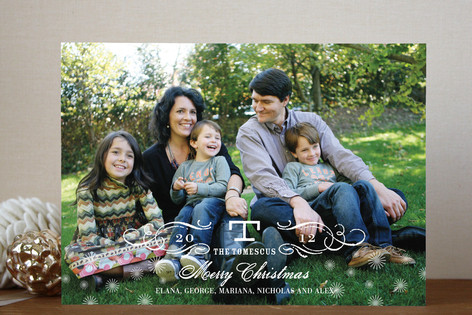 Vintage Holiday Christmas Photo Cards
