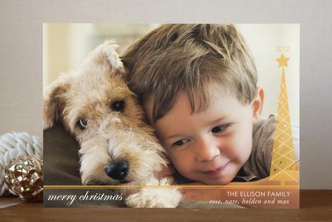 Simplified Christmas Tree Christmas Photo Cards
