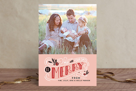 Be Merry Matchbook Christmas Photo Cards