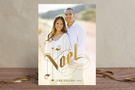 Gilded Letters Christmas Photo Cards