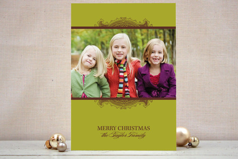 Ornate Frame Christmas Photo Cards
