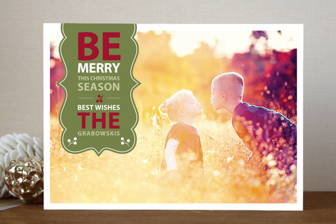 Be Merry Banner Christmas Photo Cards