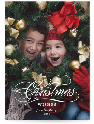 Classically Christmas Christmas Photo Cards