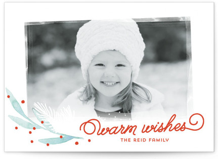 Alpine Berries Christmas Photo Cards