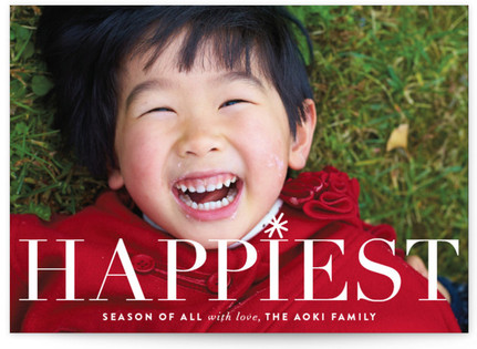 Dimples Christmas Photo Cards