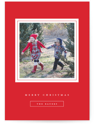 Gilded Frame Christmas Photo Cards