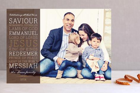 Celebrating Christ Christmas Photo Cards