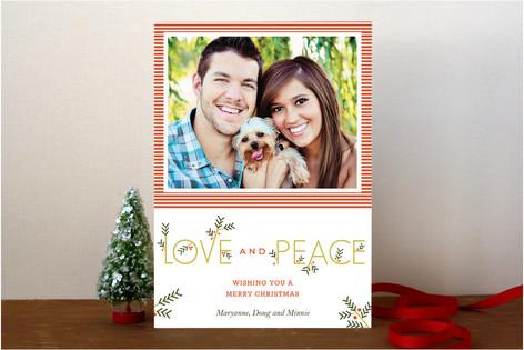 Typographic Christmas Photo Cards