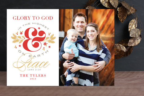 Ampersand Glory Christmas Photo Cards