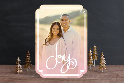 Sunset Joy Christmas Photo Cards