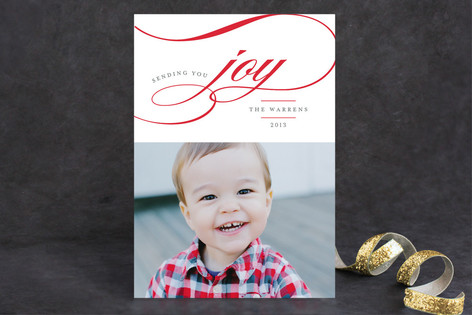 Sending You Joy Christmas Photo Cards
