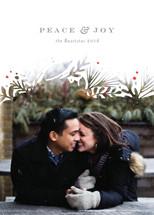 Wintry White Botanicals Christmas Photo Cards