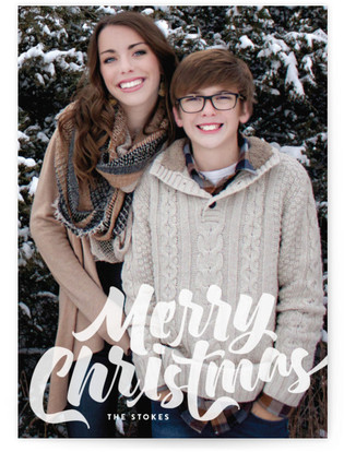 Abundant Happy Christmas Photo Cards