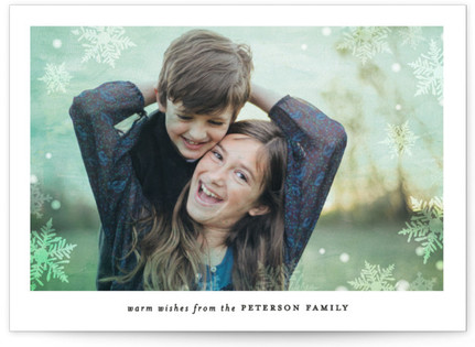 In the Frosty Air Christmas Photo Cards