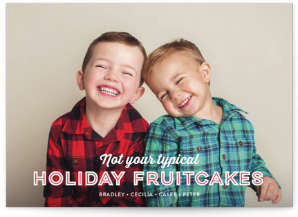 Holiday Fruitcakes Christmas Photo Cards