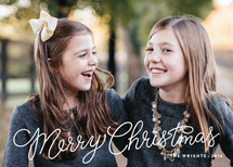 Ribbon Candy Christmas Photo Cards