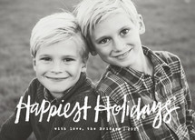 Impromptu Christmas Photo Cards