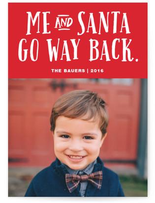 Me And Santa Christmas Photo Cards