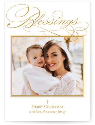 Scripted Blessings Christmas Photo Cards