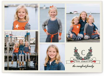 Family First Christmas Photo Cards