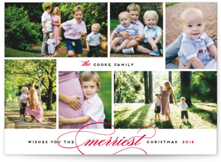 Merriest Wishes Christmas Photo Cards