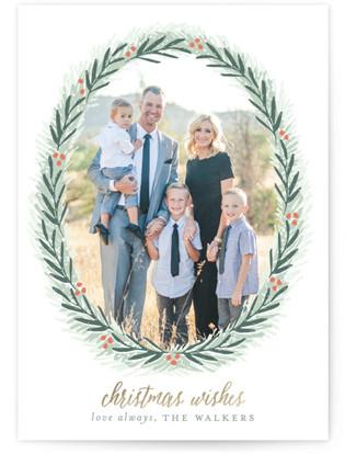 Most Elegant Wreath Christmas Photo Cards