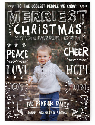 Merriest Greetings Christmas Photo Cards