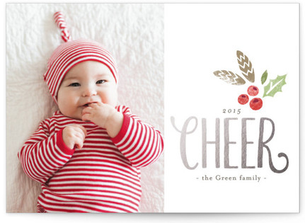Modern Cheer Christmas Photo Cards