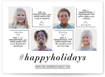 Hashtag Holiday Christmas Photo Cards