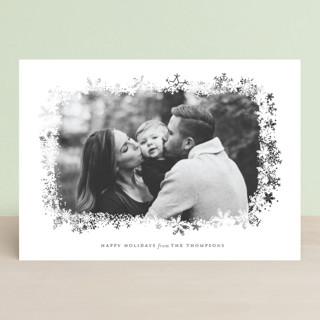 Snowfrost Christmas Photo Cards