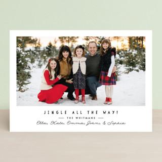 simple jingle Christmas Photo Cards