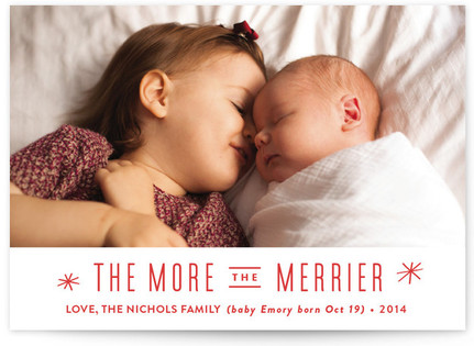 The More, the Merrier Christmas Photo Cards