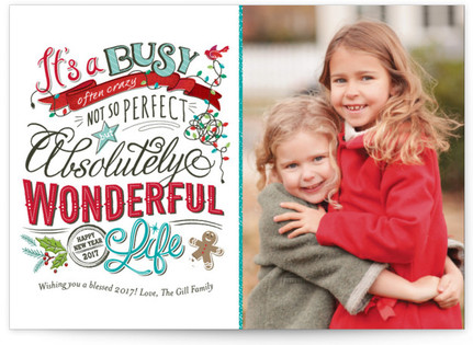 Perfectly Wonderful Christmas Photo Cards