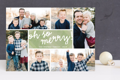 Oh So Merry Collage Christmas Photo Cards