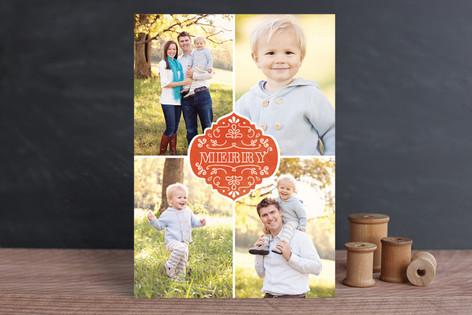 Festive Merry Christmas Photo Cards