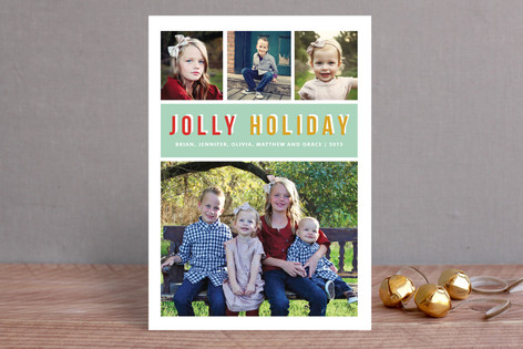 Jolly Type Christmas Photo Cards