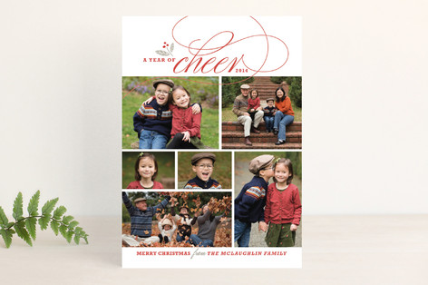 A Year of Cheer Christmas Photo Cards