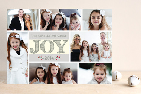 Joy With Frames Christmas Photo Cards