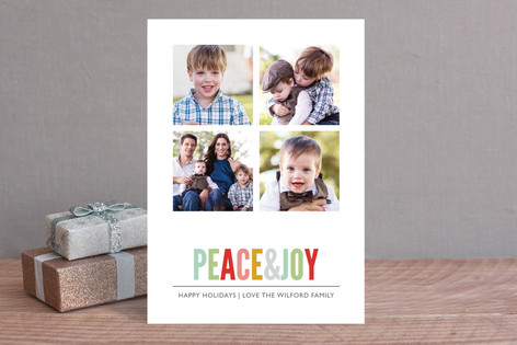 Brightly Colored Christmas Photo Cards