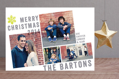 Breaking the Grid Christmas Photo Cards
