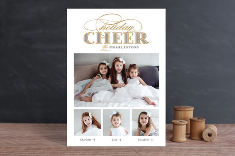 Gilded Cheer Christmas Photo Cards
