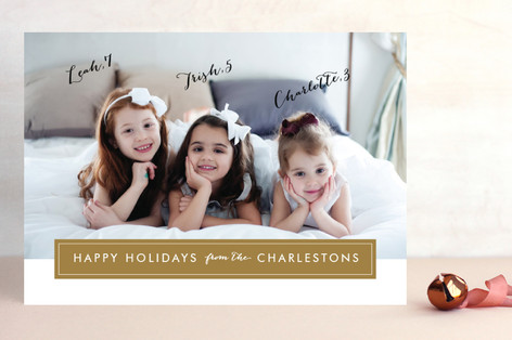 Modern Archive Christmas Photo Cards