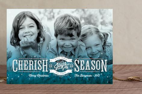 Cherish the Joys Christmas Photo Cards